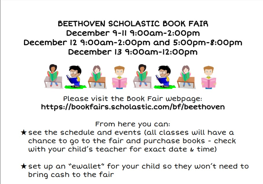 Beethoven Book Fair – Dec 9 – 13