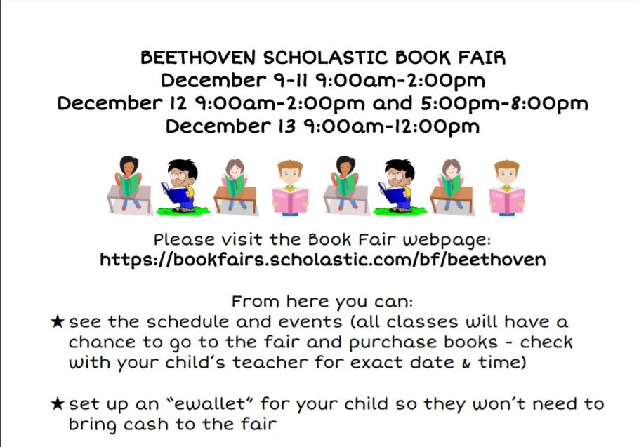 Beethoven Book Fair – Dec 9 – 13