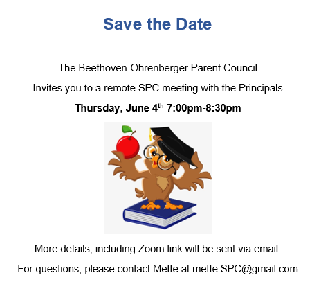 School Parent Council Meeting – Thursday June 4