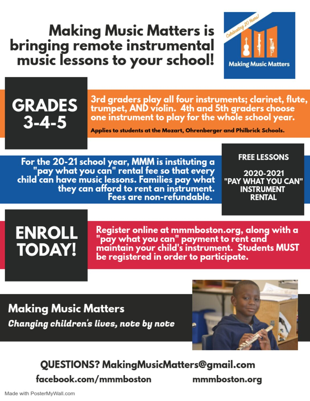 Making Music Matters – Sign up for lessons!