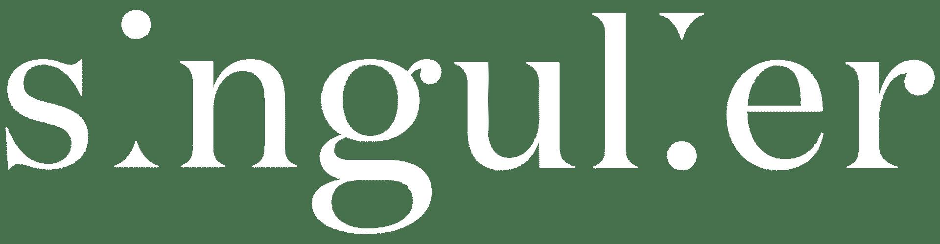 Singulier Logo White