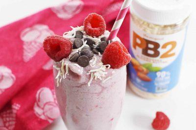 PB2 Raspberry Banana Smoothie Recipe