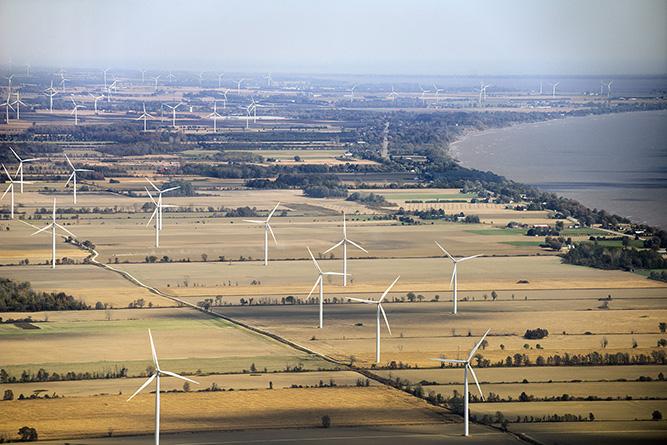 Butler 5. wind turbines
