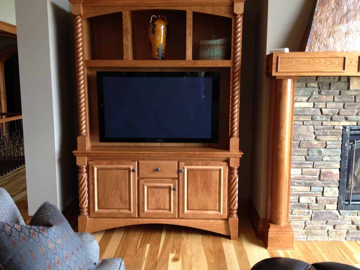 SLH Home Systems- TV Mount in Cabinet