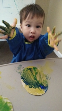 Infant painting