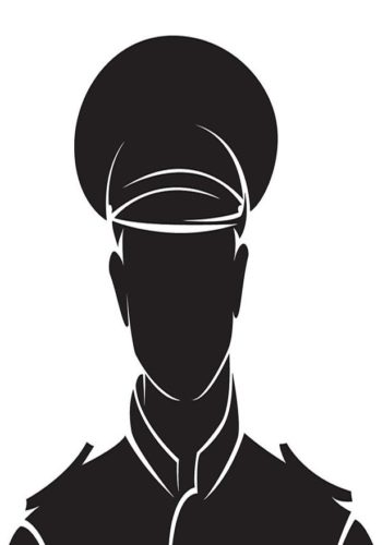32617308 - policeman. vector silhouette, isolated on white.