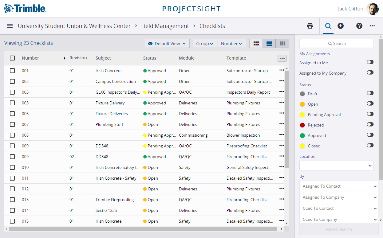 Checklists for field project management software
