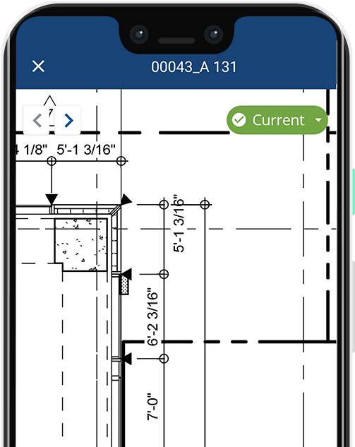 field mobile app for construction drawing