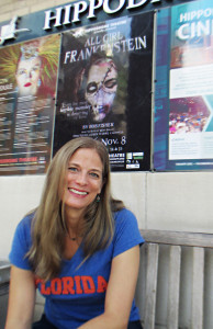 Candace Cliftin front of the Hippodrome before a recent rehearsal.