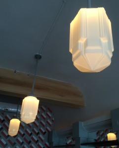 Even the light fixtures at The Dime exude class.