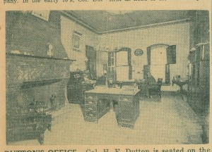 Henry Duttons office, from a newspaper photo.