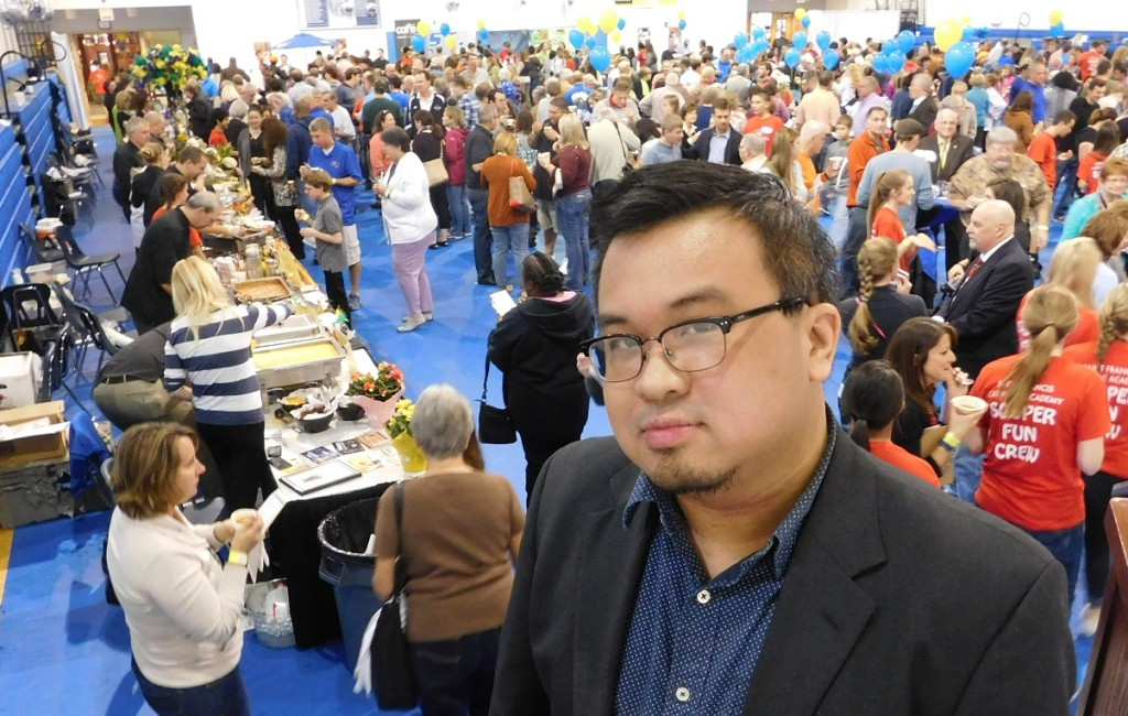 Peng recently served as one of the judges for Souper Fun Sunday at St. Francis Academy. Phot by Gainesville Downtown)