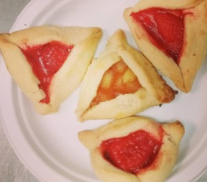 Hamantashen baked for Purim.