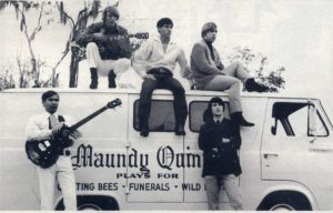 "Bernie Leadon and Don Felder cut their musical teeth with The Maundy Quintet, whose band van was sponsored by Lipham Music Store. The band played for ""Quilting Bees, Funerals and Wild Parties."""