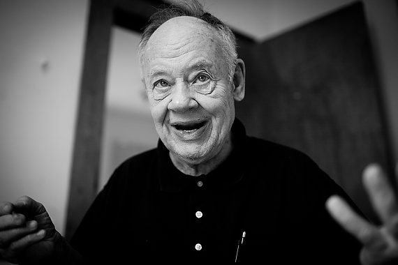 Lennie Kesl, in a photograph taken by his daughter Charlotte, on display at the Thomas Center exhibit. ©2016 Charlotte Kesl Photography