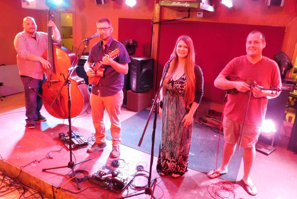 The Applebutter Express prepares for a recent set at the Jam.