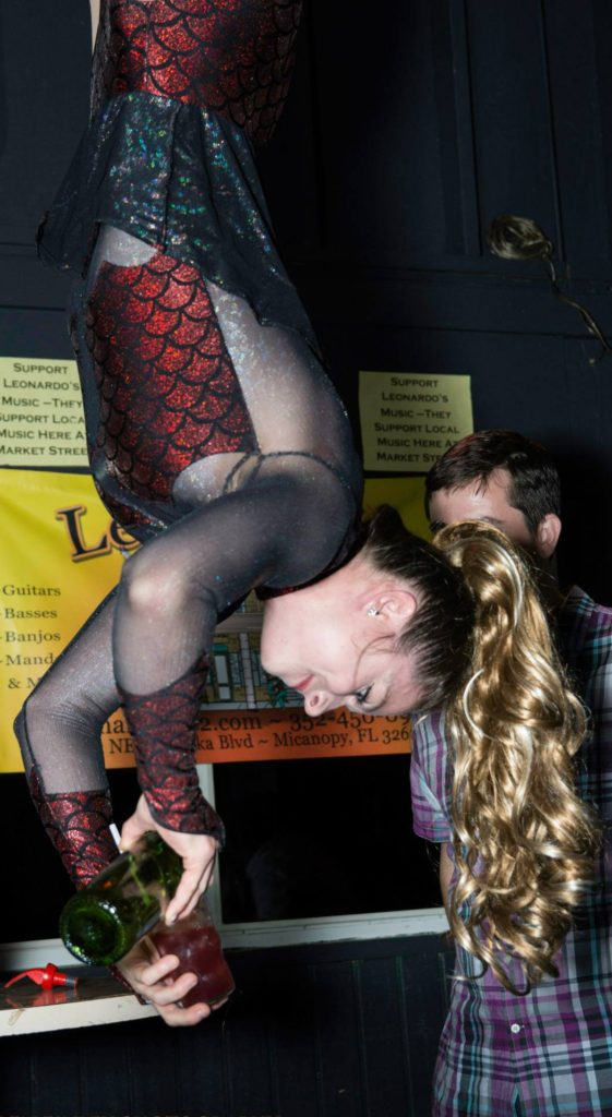 A drink is always better when the bartender is upside down.