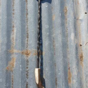 Handmade steel BBQ spatula with antler handle and twist design