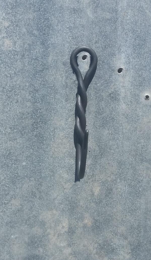 Handmade decorative twist wall hook