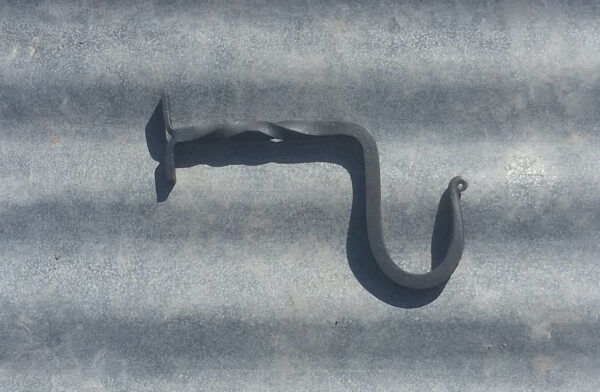 Handmade wrought iron wall hook