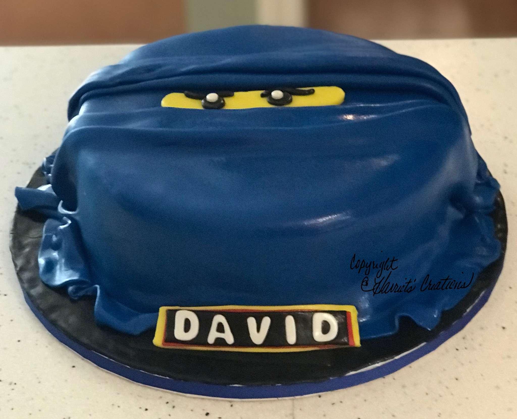 Ninja kids birthday cake