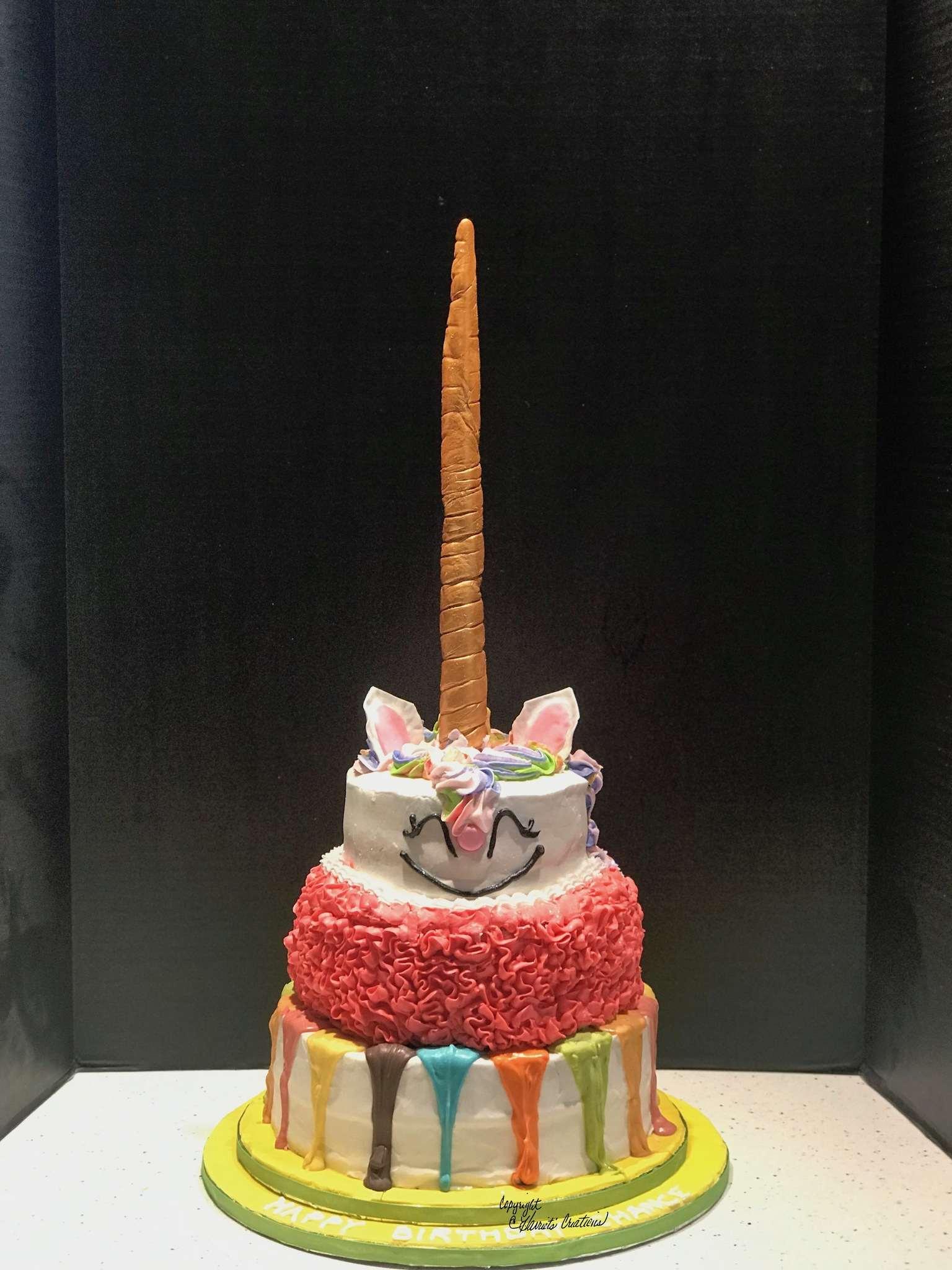 cute unicorn birthday cake