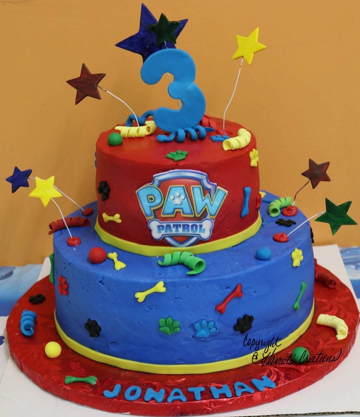paw-patrol-two-tier-cake-third-birthday-party