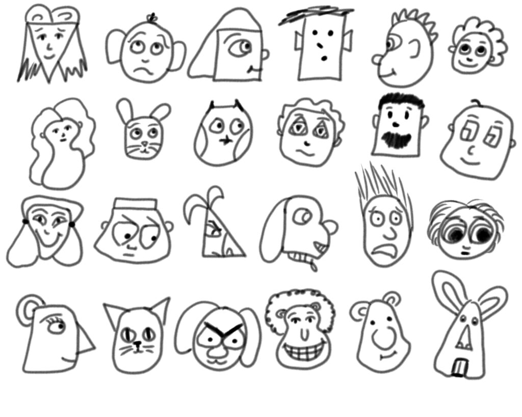 Character face designs