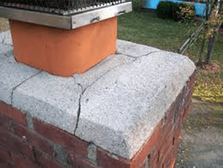 chimney crown repair needed