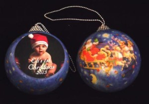 True sublimation keepsake Christmas ornament..