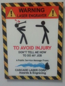 DyeSub warning sign