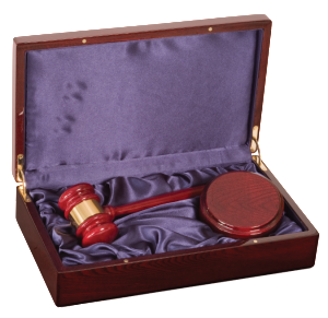 "10"" ROSEWOOD PIANO FINISH GAVEL DIRECTOR SET"