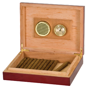 "9 1/2"" X 7 1/4"" ROSEWOOD PIANO FINISH HUMIDOR"