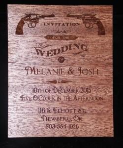 Wedding Invitation - wood