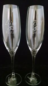 Wedding champange flutes
