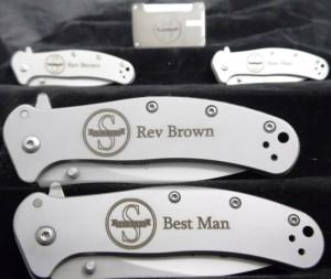 Wedding groomsman knives