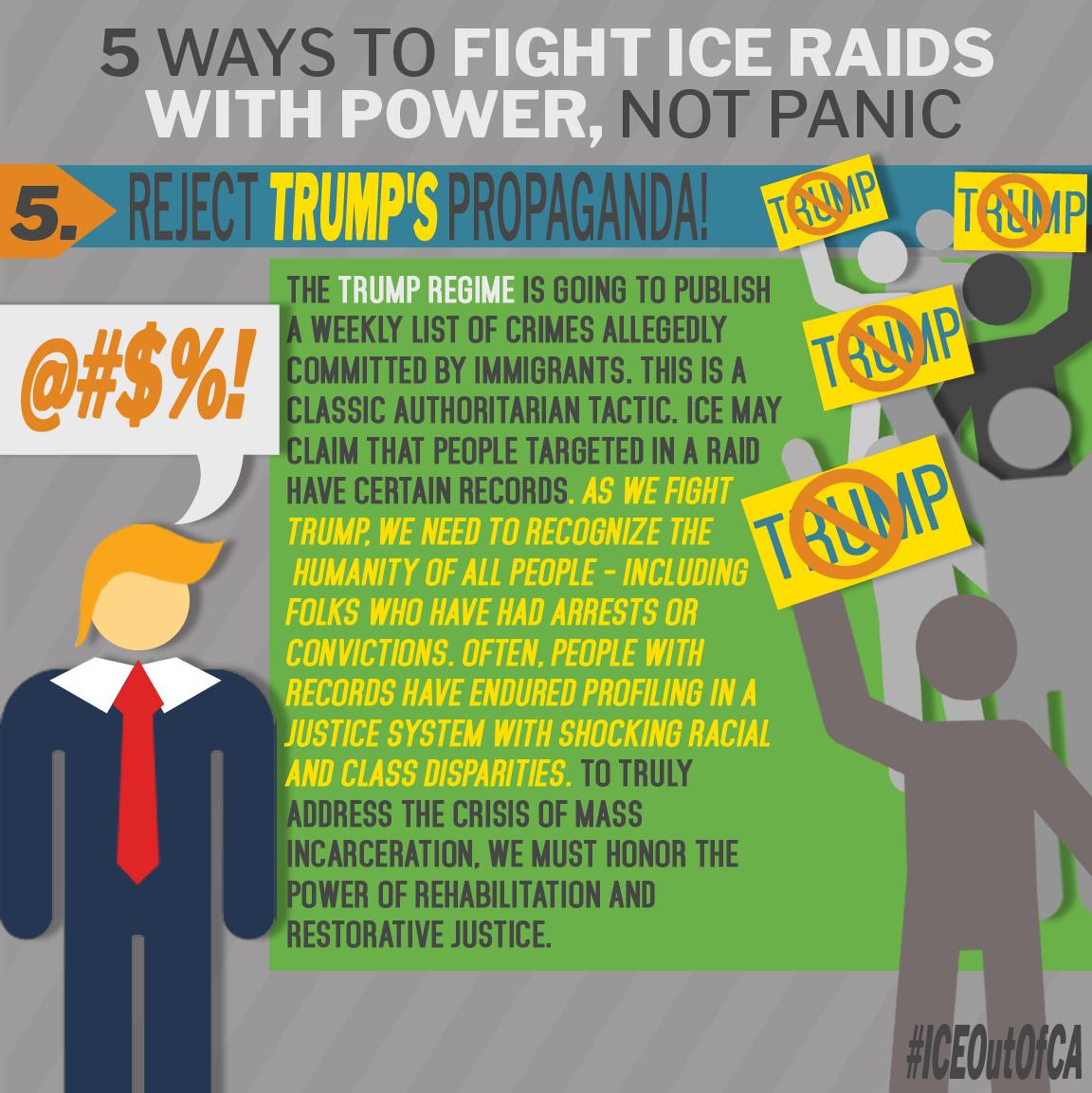 5. Reject Trump's Propaganda
