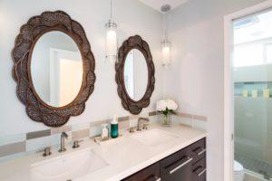 Bathroom, interior design, Marilynn Taylor, teal, gray, west elm, Anthropologie, romantic, blue, design, property sisters