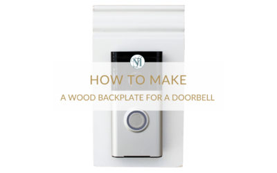 How to Make a Decorative Backplate for a Doorbell