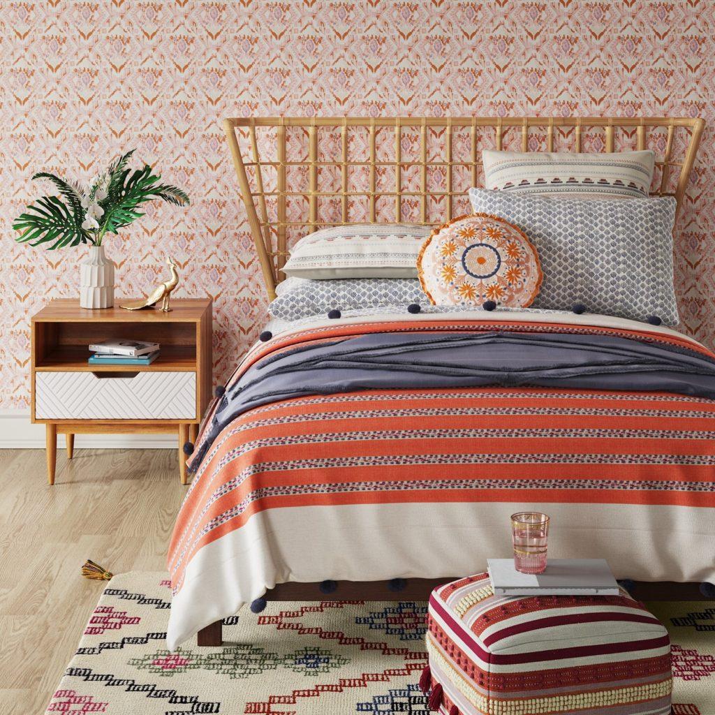 target, rattan, headboard, bohemian, boho, bedroom, design, high low, splurge vs. steal,
