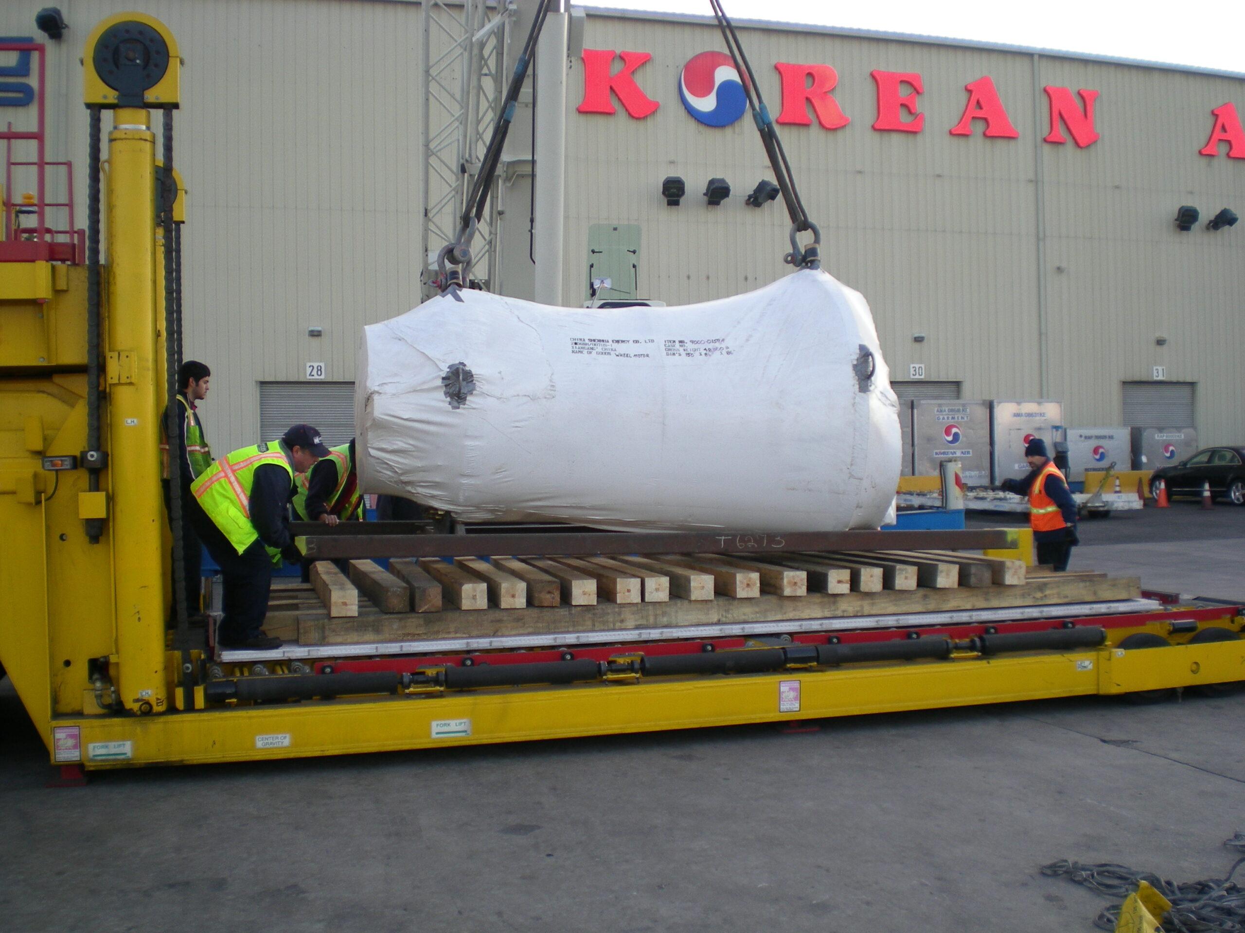 Wheel motors by air to China