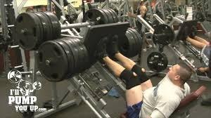 weighted leg press