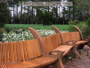 The backstory: I designed this bench based on my sketches of old plows. It was to honor an old farmer who love plows. My great friend Andy Adams built it.