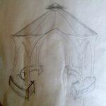 Jenks' original sketch for gazebo.
