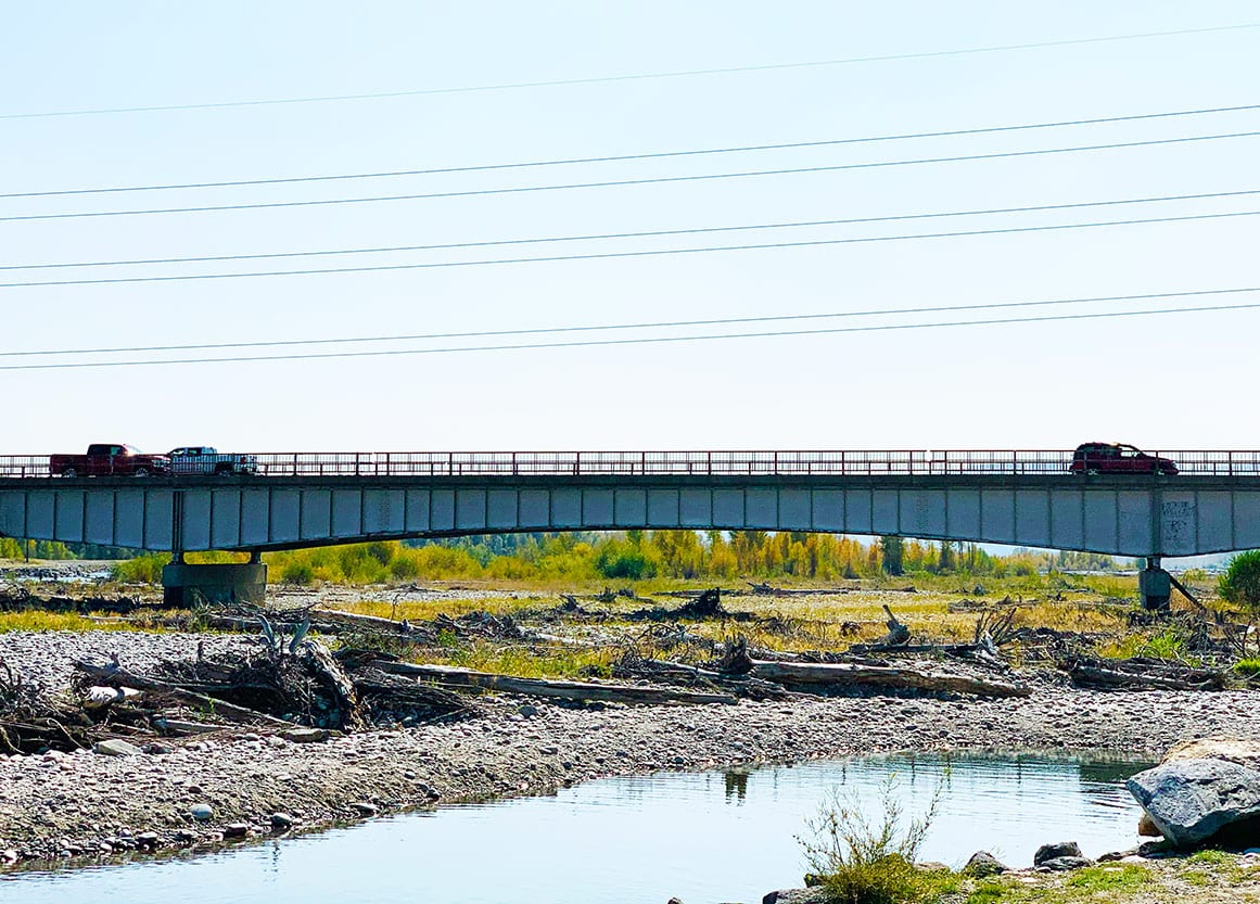 Snake River Bridge Work