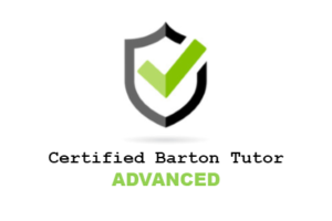 certified barton tutor advanced level badge sheild