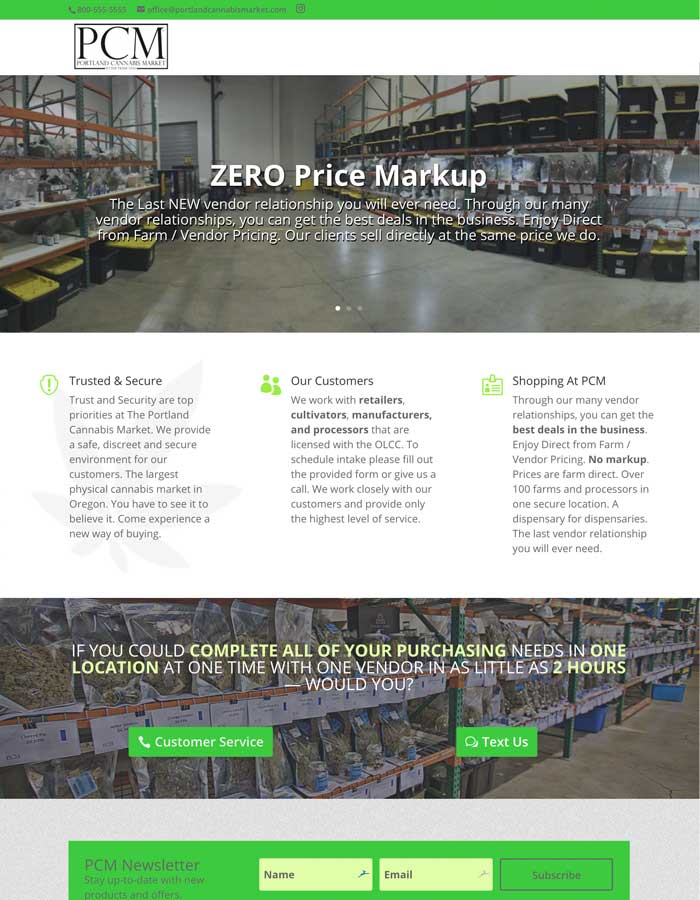 Featured Project - Portland Cannabis Market