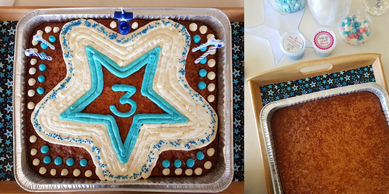 איך לקשט את מגש עוגת היום הולת לגן_אשת סטייל_בלוג אוכל ואירוח