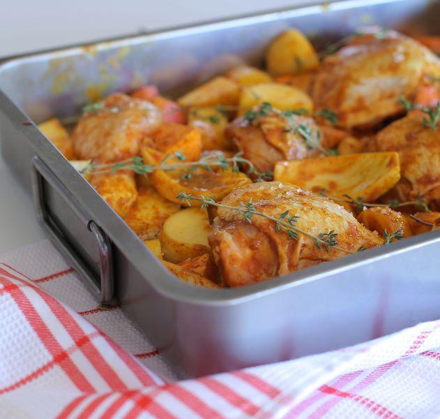 עוף ותפוחי אדמה בתנור_מתכון מנצח לכל המשפחה_צילום ומתכון טליה הדר אשת סטייל