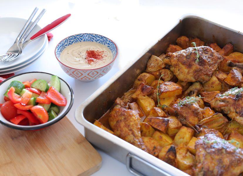 עוף ותפוחי אדמה בתנור_מתכון מנצח לכל ה